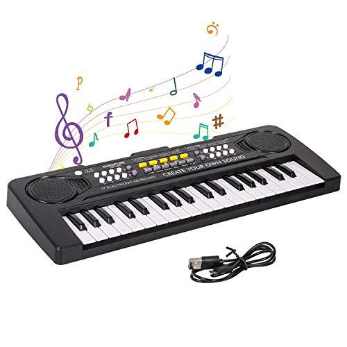 Shayson Digital Piano Keyboard,Mini 37-Tasten Elektronische Klavier Musik Wiederaufladbares Klavier für Baby Kinder