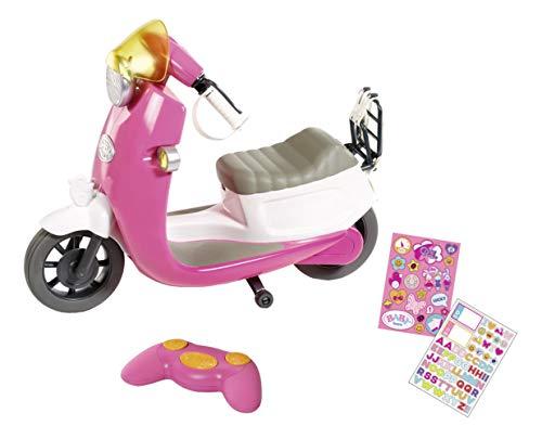 Zapf Creation 824771 BABY born City RC Scooter Puppenroller mit Fernsteuerung und Lichteffekten, Puppenzubehör 43 cm, pink/weiß