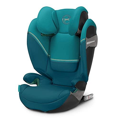 CYBEX Gold Kinder-Autositz Solution S i-Fix, Für Autos mit und ohne ISOFIX, 100 - 150 cm, Ab ca. 3 bis ca. 12 Jahre, River Blue