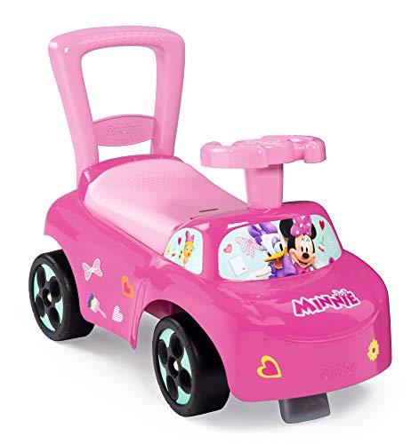 Smoby 720522 Mein erstes Auto Rutscherfahrzeug Minnie, Kinderfahrzeug mit Staufach und Kippschutz, für drinnen und draußen, Minni Maus Design, für Kinder ab 10 Monaten, Rosa