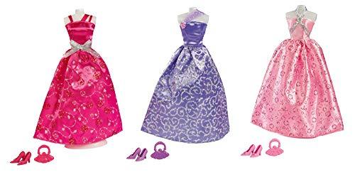 Simba 105723369 - Steffi Love Glamour / Puppenkleidungs-Set / 3-fach sortiert / Es wird nur ein Artikel geliefert / Ballkleid für alle 29cm Puppen / Ohne Puppe
