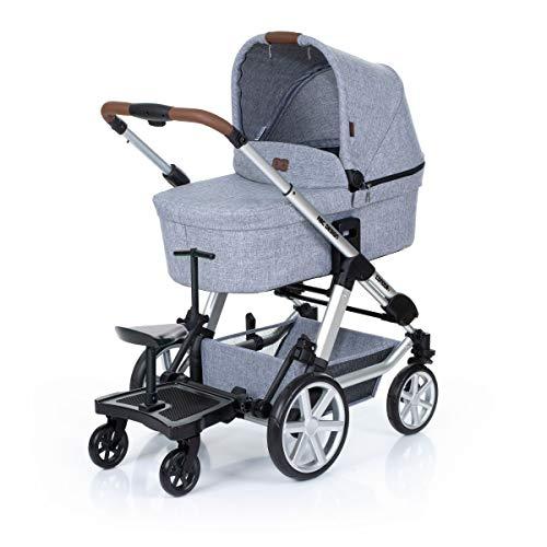 Set ABC Design Trittbrett Kiddie Ride On 2 mit Stoffwindel von Kinderhaus Blaubär   Mitfahrbrett universal passend   Rollbrett für Kinderwagen Buggy bis 20 kg, Größe:SET Trittbrett + Sitz