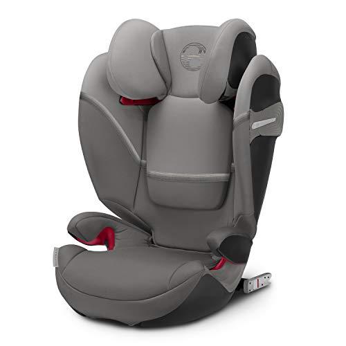 CYBEX Gold Kinder-Autositz Solution S-Fix, Für Autos mit und ohne ISOFIX, Gruppe 2/3 (15-36 kg), Ab ca. 3 bis ca. 12 Jahre, Soho Grey