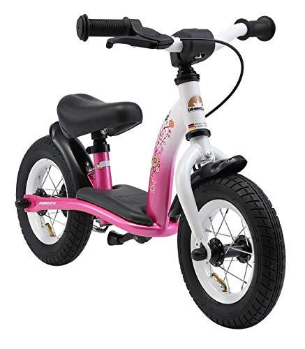 BIKESTAR Kinder Laufrad Lauflernrad Kinderrad für Mädchen ab 2 - 3 Jahre | 10 Zoll Classic Kinderlaufrad | Pink & Weiß | Risikofrei Testen