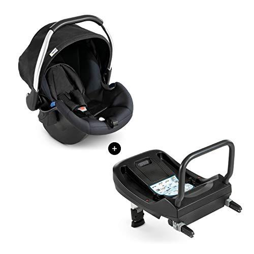 Hauck Babyschale Comfort Fix inkl. Isofix Base, ab Geburt bis 13 kg, ECE 44/04, Seitenaufprallschutz, Schwarz