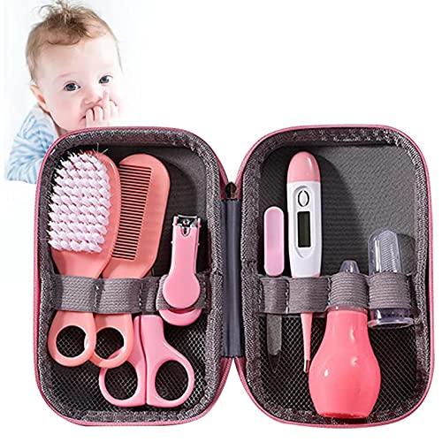 Rich-home 8Pcs Baby Healthcare Kit, Babypflegeset für Neugeborene, Säugling, Kleinkind Gesundheit und Pflege Leicht zu tragen Baby Erstausstattung Pflegeset