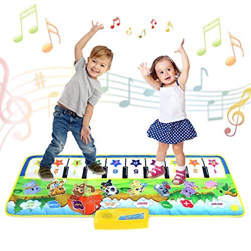 Tanzmatten - Spiele ab 1 2 3 4 5 jahre musikinstrumente spielzeug für mädchen jungs Klaviermatte Musikmatte Kinder 8 Tierstimmen Klaviertastatur Spielzeug Musik Matte geschenk für kinder ab 1-6 jahre