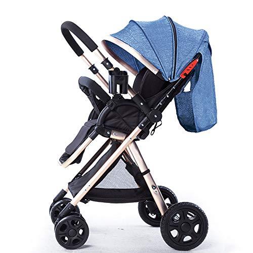 DGHJK Faltbarer Kinderwagen, Buggy, Reisebuggy, Kinderbuggy, Einhand-Faltmechanismus, Liegefunktion,Zwei Wege,5-Punkt-Sicherheitsgurt,für Jungen und Mädchen ab 0 Monate -3Jahre