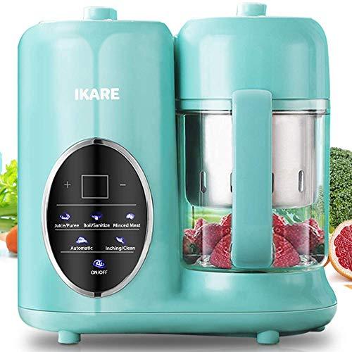 Babynahrungszubereiter - IKARE 8-in-1-Selbstreiniger-Mixer-Grinder-Dampfgarer mit abnehmbarem Wassertank und Dampfkorb und Schüssel - Touch-Bedienfeld - Babynahrung in 15 Minuten kochen