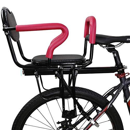 DKZK Fahrrad Kindersitz Fahrradsitz Abnehmbarer Kindersitz Elektro- / FahrradrüCksitz Mit Antirutsch- Und Leitplankenpedalen Geeignet FüR Kinder Von 2-6 Jahren