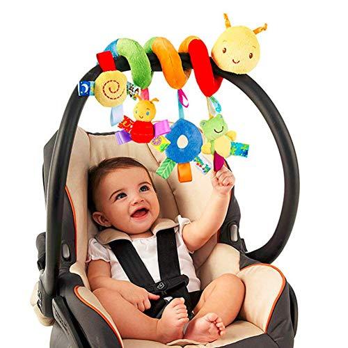 Herbests Kinderwagen Spirale Spielzeug,Mobile Baby Kinder Twisty Spirale Bett hängen Spielzeug Geschenke, Baby Aktivität pädagogische Plüschtier Plüschtier für Babyschale,Baby-Autositz-Spielzeug
