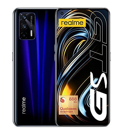 realme GT Smartphone ohne Vertrag, 120Hz Super AMOLED-Display, 5G Handy 8+128GB, Qualcomm Snapdragon 888 5G-Prozessor, 65W SuperDart Charge, Dual SIM, 64MP Triple-Kamera