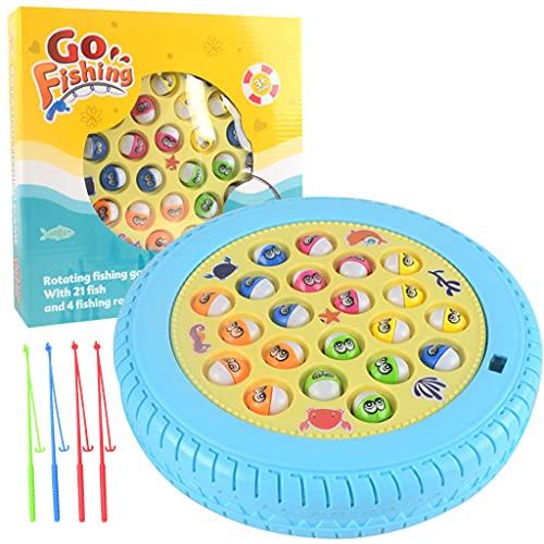 UEXCN 1Set 45/21Fisch Elektrisches Angelspiel Spielzeug Fangen Magnetische Fisch Musik Smart Stimulation Spielzeug Mit Drehbrett
