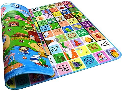 Spielmatte, Krabbelmatte Baby, 200x180 cm Faltbare Baby Bodenmatte,Wasserdicht Rutschfeste Schaumstoffmatte Geeignet Für Drinnen und Draußen, BPA Frei Baby Krabbeldecke
