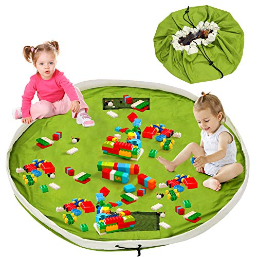 Baby Aufräumsack, Spielzeugsack, Spielzeug Aufbewahrung xxl, Kinder Spielsack Aufräumsack Baumwolle, Beutel Sack für Spielzeug Gross, schnellere Aufräumung,Teppich Unterlage 150cm