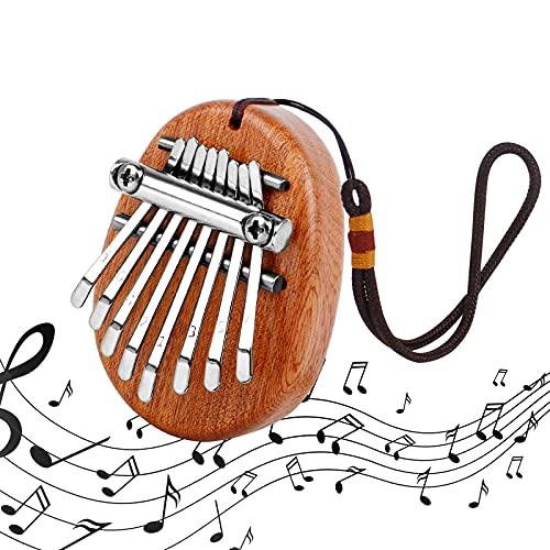 Kalimba Finger Klavier 1 Stück Holz Daumenklavier 8 Tasten Marimba Klavier Mini Daumen Musikinstrument Tragbare Kalimba Instrument für Anfänger Kinder Erwachsene