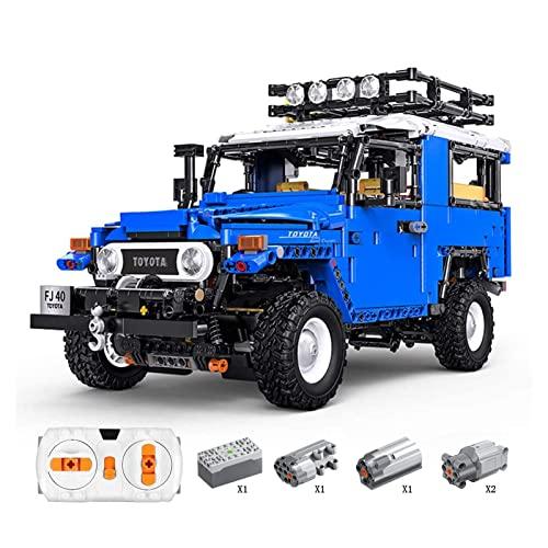 YQRX 2101 Teile Technologie Bausteine Auto, 2101 stücke Bausteine Auto mit Motor und Fernbedienung Kompatibel mit Lego Technik