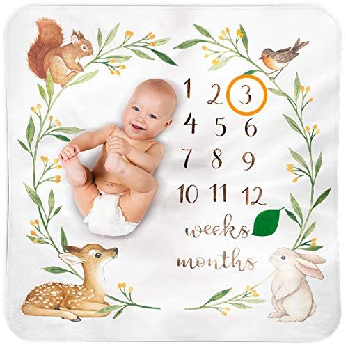 Meilenstein Deck Baby Monatsdecke Junge Deck Baby Monat Mit Europäischem Design - Die Baby Meilenstein Decke als Foto Hintergrund mit Natur- und Kindermotiven - Baby Geschenk für Jungen & Mädchen