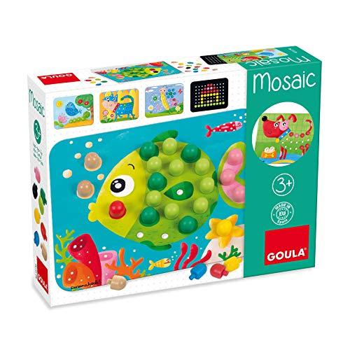 Jumbo Spiele D53136 - GOULA Mosaik Spiel Holzspielzeug für Kleinkinder, Ab 3 Jahren