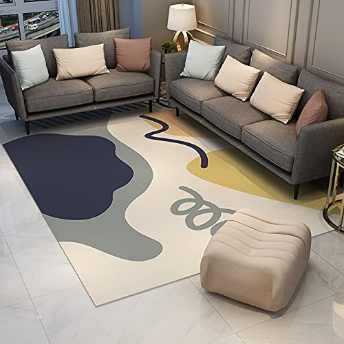 NTtie Teppich Wohnzimmer Modern Verschiedene Designs Größen, Kreativer minimalistischer Schlafzimmer-Wohnzimmer-Haushaltsteppich