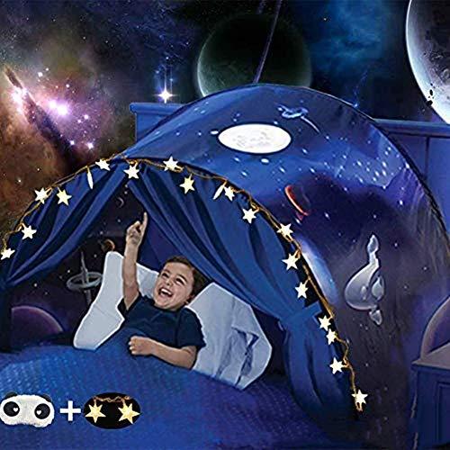 Nifogo Traumzelt,Bettzelt, Dream Tent,Drinnen Kinder, Kid's Fantasy, Kinder Schlafzimmer Dekoration,Geschenke für Kinder (Universum)