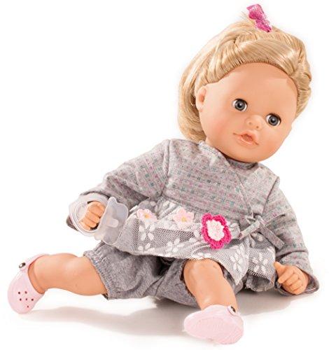 Götz 1616061 Cosy Aquini Netlace & Flowers Badepuppe - Puppe mit Blonde Haare, blauen Schlafaugen in einem 7-teiligen Set - 33 cm Mädchen-Babypuppe