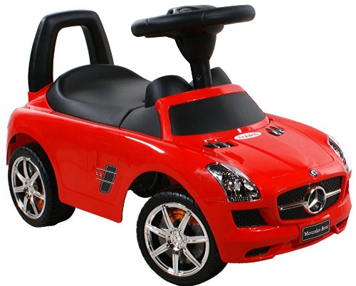 Rutschauto Spielzeugauto ARTI Mercedes SLS AMG 332 Red / Rot Lauflernhilfe Lauflernwagen Kinderfahrzeuge