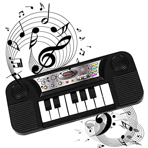 ROUNYY Kinder Mini Pocket Piano 8 Tasten Tragbares Keyboard Hörtraining Elektronisches Musikinstrument Arbeiten & Spielen Überall Keyboard Unterricht Spielzeug Weihnachten Geschenke (A)