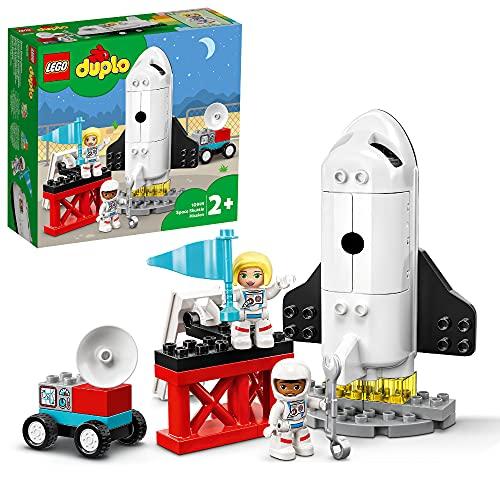 LEGO 10944 DUPLO Spaceshuttle Weltraummission Rakete Spielzeug für Kleinkinder ab 2 Jahre mit Astronauten-Figuren