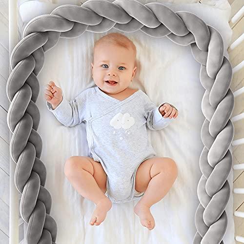 Gemütliche Bettumrandung von BEARTOP | Bettschlange fürs Babybett | geflochtenes Nestchen | selbstverständlich getestet** | in 2 oder 3,6 Meter Länge | Zufriedenheitsgarantie (3 Jahre)*