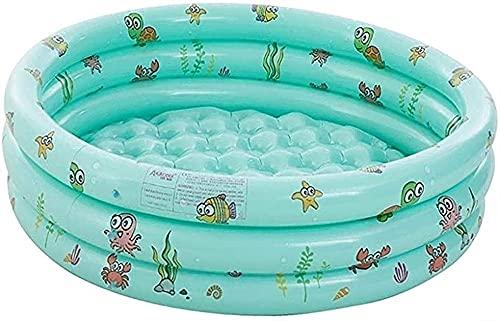 LIUPING Aufblasbares Planschbecken, Übergroßes Baby-Sommerschwimmbad Mit Aufblasbarem Regenbogen-Poolspielzeug, Kinderwasserbecken Im Innen- Und Außenbereich Für Kinder (Color : Green, Size : 130cm)
