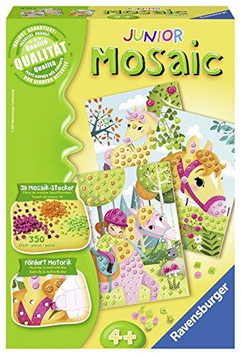 Ravensburger 18341 Mosaic Junior Pferde, DIY für Kinder ab 4 Jahren