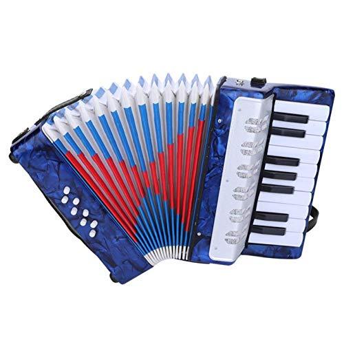 frenma Bass Piano, Musikinstrument Piano Akkordeon 8 Bass Anfänger Akkordeon für Schüler für Anfänger(Dunkelblau)