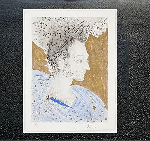 CloudShang The Loves of Cassandra Poster Salvador Dali Bild Seltsames Traumhaftes Bild Abstrakte Surreale Wand Bilder Leinwand Vintage Kubismus Pop Gemälde Poster Wanddekor H03144