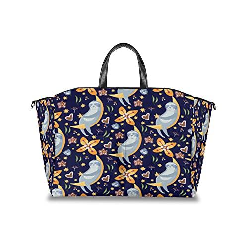 Wickeltasche Faultier Moon Berry Multifunktionaler Kinderwagen Organizer Wasserdicht Mama Taschen Windeln Reisetasche mit verstellbarem Klettverschluss