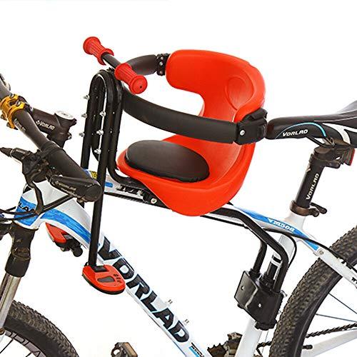 Fahrrad-Vordersitz mit faltbaren Pedalen