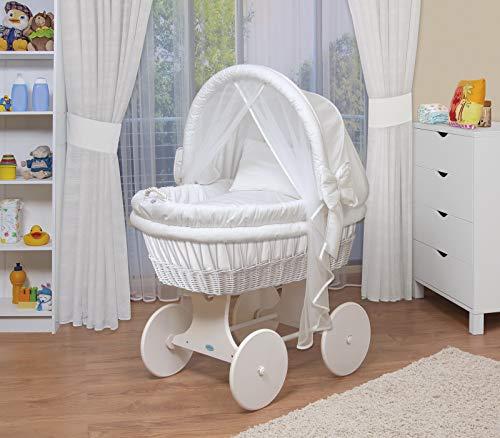 Waldin Baby Stubenwagen mit großen Rädern incl. Zubehör