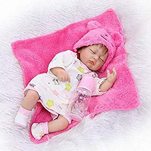 GPWDSN Baby-Puppe für Zwillinge, 42 cm, weiches Silikon, für Neugeborene, Junge und Mädchen