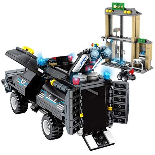 TRCS City Polizei Spielzeug Bausteine, 549 Teile Wrecker Auto mit Waffen & Minifigur für SWAT Polizei Kompatible with Lego 60139