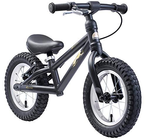 BIKESTAR Mountain Kinderlaufrad Lauflernrad Kinderrad für Jungen und Mädchen ab 3 - 4 Jahre   12 Zoll Kinder Laufrad Mountainbike   Schwarz   Risikofrei Testen