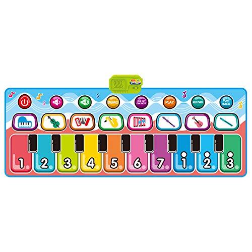 WUMOFIF Piano Mat Kids Play Mat Klaviermatte Tanzmatten HüPfmatte Keyboard Matten Klaviertastatur Musik Playmat Spielzeug FüR Babys, Kinder, MäDchen Und Junge