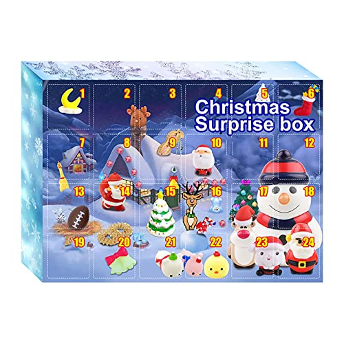 voctapat 24 Tage Weihnachts-Countdown-Adventskalender, 2021 Weihnachtsüberraschungsbox für Kinder Erwachsene, Geschenk für Jungen und Mädchen