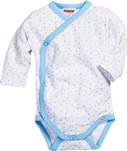 Schnizler Wickelbody Sterne allover Body Baby - Unisex, Blau (Weiß/Bleu 117), 50