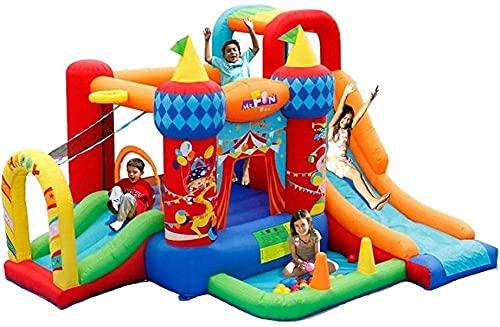 Hüpfburgen Kinderspielplatz Home Indoor Spielzeug Kinder Aufblasbare Zirkus Trampolin Aufblasbare Hüpfburgen, Wasserrutschen für Garten Kinder Hüpfburg