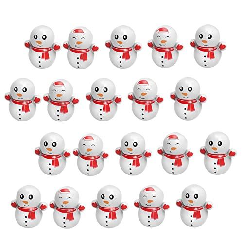 Stehaufmännchen, Weihnachten Mini Cartoon Schneemann Tumbler, Stehauf-Spielzeug, Super Süße Schneemann Desktop-Spielzeug Ornament, Kreative Weihnachten Schneemann Tumbler Spielzeug Für Kinder