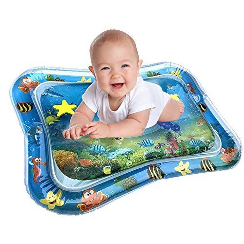 Spielzeug Baby, Baby-Wassermatte Mat Erlebnisdecke, Krabbeldecke mit Musik und Lichtern, Spieldecke für Babys mit weichem Spielbogen, 3 monate, Aufblasbare Baby-Wassermatte Fun Activity Play Center