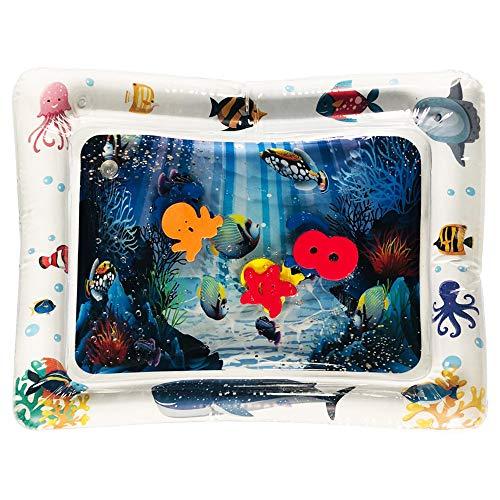 HEYWR Baby Spielzeu, Baby-Wassermatte Erlebnisdecke, Krabbeldecke mit Musik und Lichtern, Spieldecke für Babys mit weichem Spielbogen, ab 3 Monaten