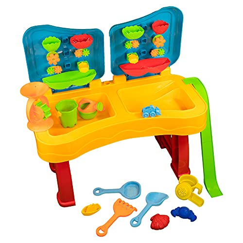 Sand und Wasser Spieltisch Spielzeug Sandspieltisch Wasserspieltisch (Bunt (28-tlg))