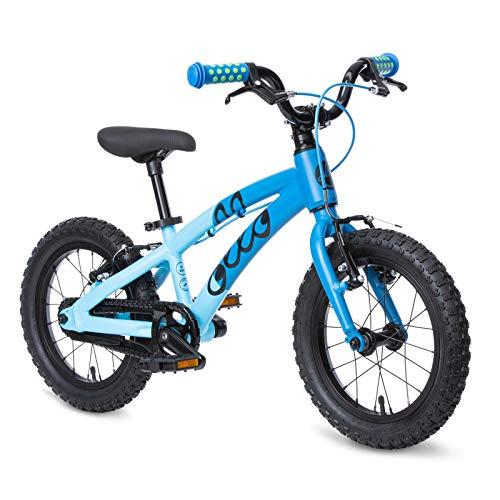 OLLO 14 Zoll Kinderfahrrad (ab 3 Jahre) für Jungen und Mädchen, leicht 6,1 kg - blau