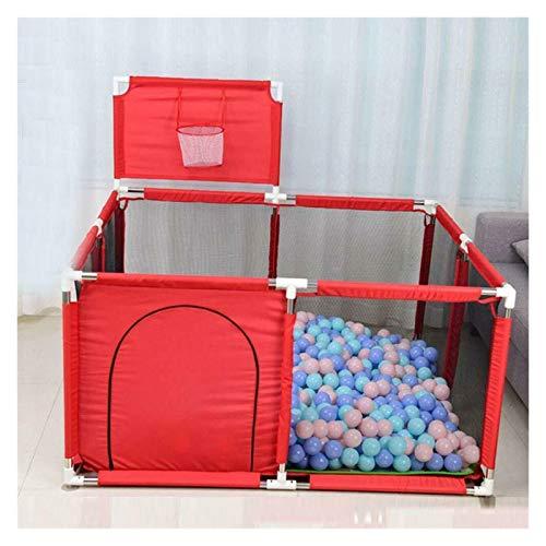 ZXQC Abnehmbarer Und Waschbarer Baby-Laufstall Kleiner Spielplatz-Kugelgrube, Baby Kleinkind Spielen Home Spiel Sicherheit Zaunzaun (Color : 1.2x1.2m red)